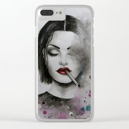 Breathing in Fumes Clear iPhone Case