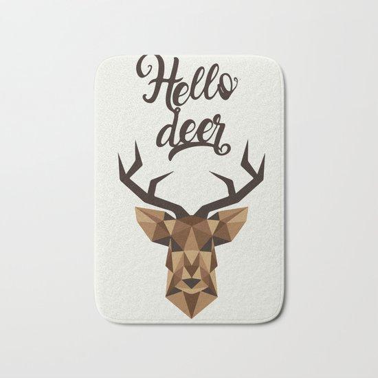 Hello deer Bath Mat