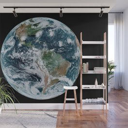 Four Tropical Hurricanes On Planet Earth from Space Satellite Photograph Wall Mural
