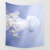jelly fish Wall Tapestries featuring Jelly Fish by Diandra