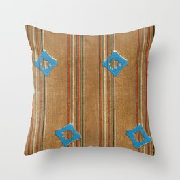 Vintage woodblock print of Japanese textile from Shima-Shima (1904) by Furuya Korin 111 Throw Pillow