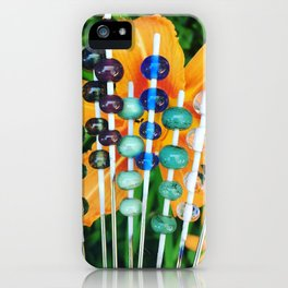Lilies and Glass Beads iPhone Case