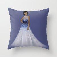 korra Throw Pillows featuring Korra by TrizhaMI