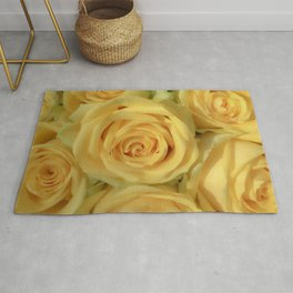 Parisian Rose Garden Yellow Number 2 Rug