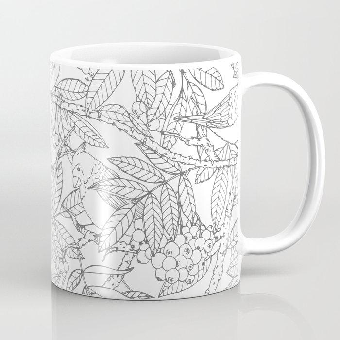 Birds On Rowan Tree Pattern Coffee Mug By Faerieshop Society6