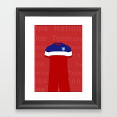 One Nation. One Team.  Framed Art Print