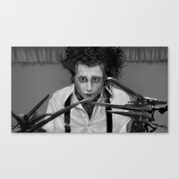 edward scissorhands Canvas Prints featuring Edward Scissorhands by ururuty