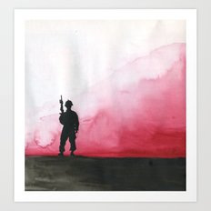 Lone Soldier Art Print