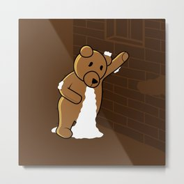 plush bear Metal Print