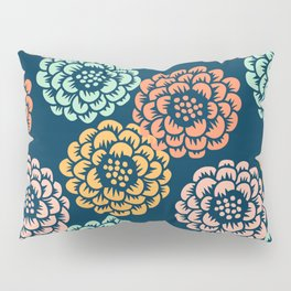 Indigo & Papaya Pattern 10 Pillow Sham