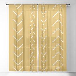 V / Yellow Sheer Curtain