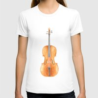 cello T-shirts featuring Cello - Watercolors by Florent Bodart / Speakerine