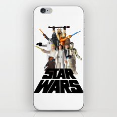 Star War Action Figures Poster iPhone & iPod Skin