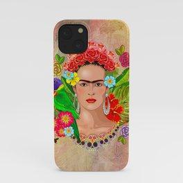 Frida Kahlo painting iPhone Case