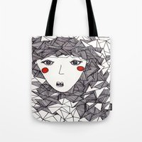 the who Tote Bags featuring who by Eliza L