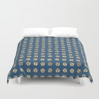 astrology Duvet Covers featuring Astrology 2 by lxcart