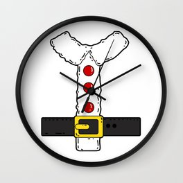 Santa Claus Costume Christmas Wall Clock