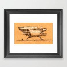 Ship Sketch Framed Art Print