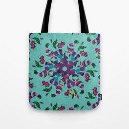 3 Swirl Wallpaper - Teal Tote Bag