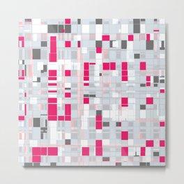 Popping Squares (pink) Metal Print