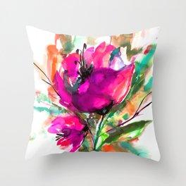 Serendipity 2A by Kathy Morton Stanion Throw Pillow