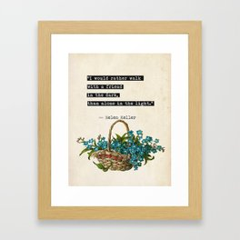 H.Keller quote Framed Art Print