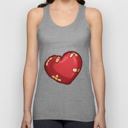 Heart with plaster Unisex Tank Top