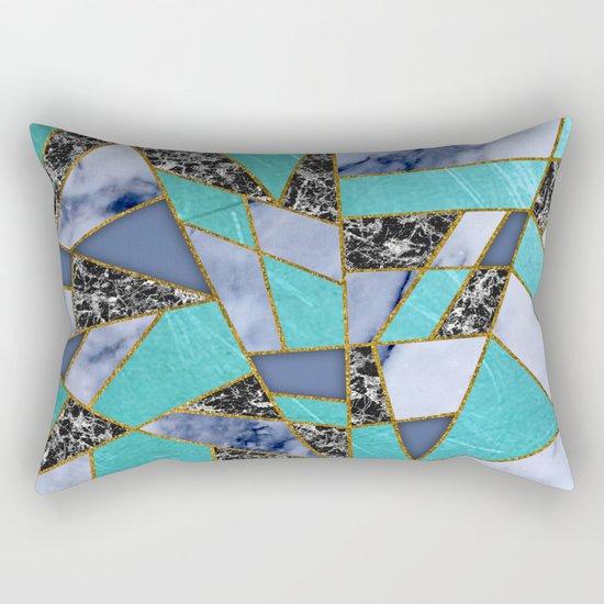 Abstract #457 Marble Shards Rectangular Pillow