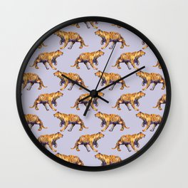lilac tiger pattern Wall Clock