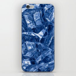 Ice cubes background iPhone Skin