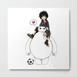 baymax big hero 6 Metal Print