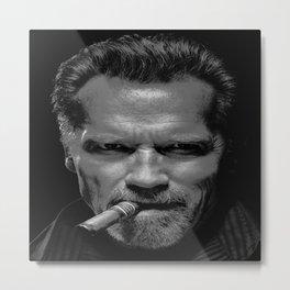 Arnold Schwarzenegger Mr Universe Picture Poster Art Bodybuilding Actor Movie Film Terminator Predator Commando Metal Print