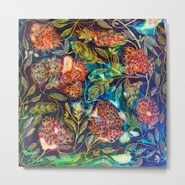 Exotic Floral Metal Print