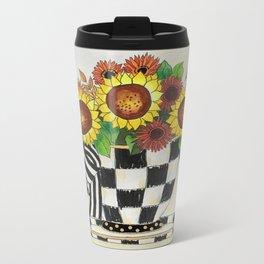 Sunflower Tea Metal Travel Mug