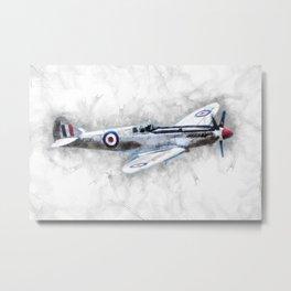 Spitfire Sketch Metal Print
