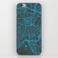 madrid iPhone & iPod Skins featuring Madrid by Map Map Maps