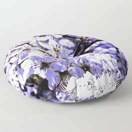 A View Of Spring Blossoms Floor Pillow