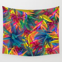 tropical Wall Tapestries featuring tropical by mark ashkenazi