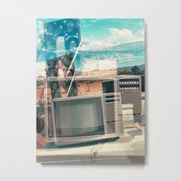 Desert Television Metal Print