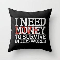 Money & Love Throw Pillow