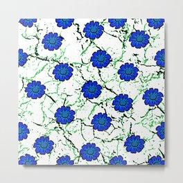 Summer Bloom - Blue Metal Print
