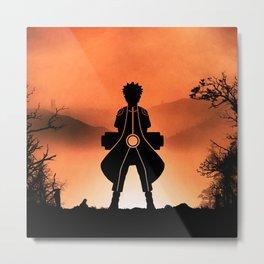 Naruto - Nine Tails Chakra Mode Metal Print