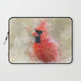 Northern Cardinal Watercolor Splatter Laptop Sleeve