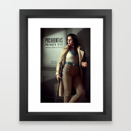 Pocahontas - Private Eye Framed Art Print