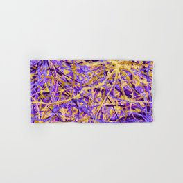 Purple and Gold Celebration Hand & Bath Towel