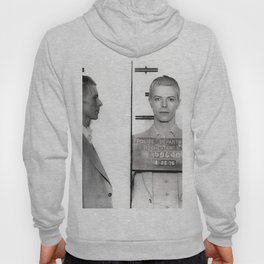 1976 Bowie Arrest Mugshot in Rochester, New York black and white photograph Hoody