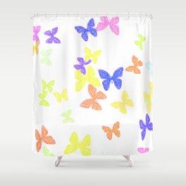 Summer Butterflies Shower Curtain