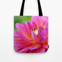 Bright Pink Dahlia Flower Close-Up (2 of 4) Tote Bag