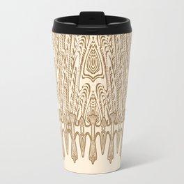 Sepia Macramé Arrowhead Chenille Lace Pattern Travel Mug