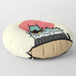 Osaka castle Floor Pillow